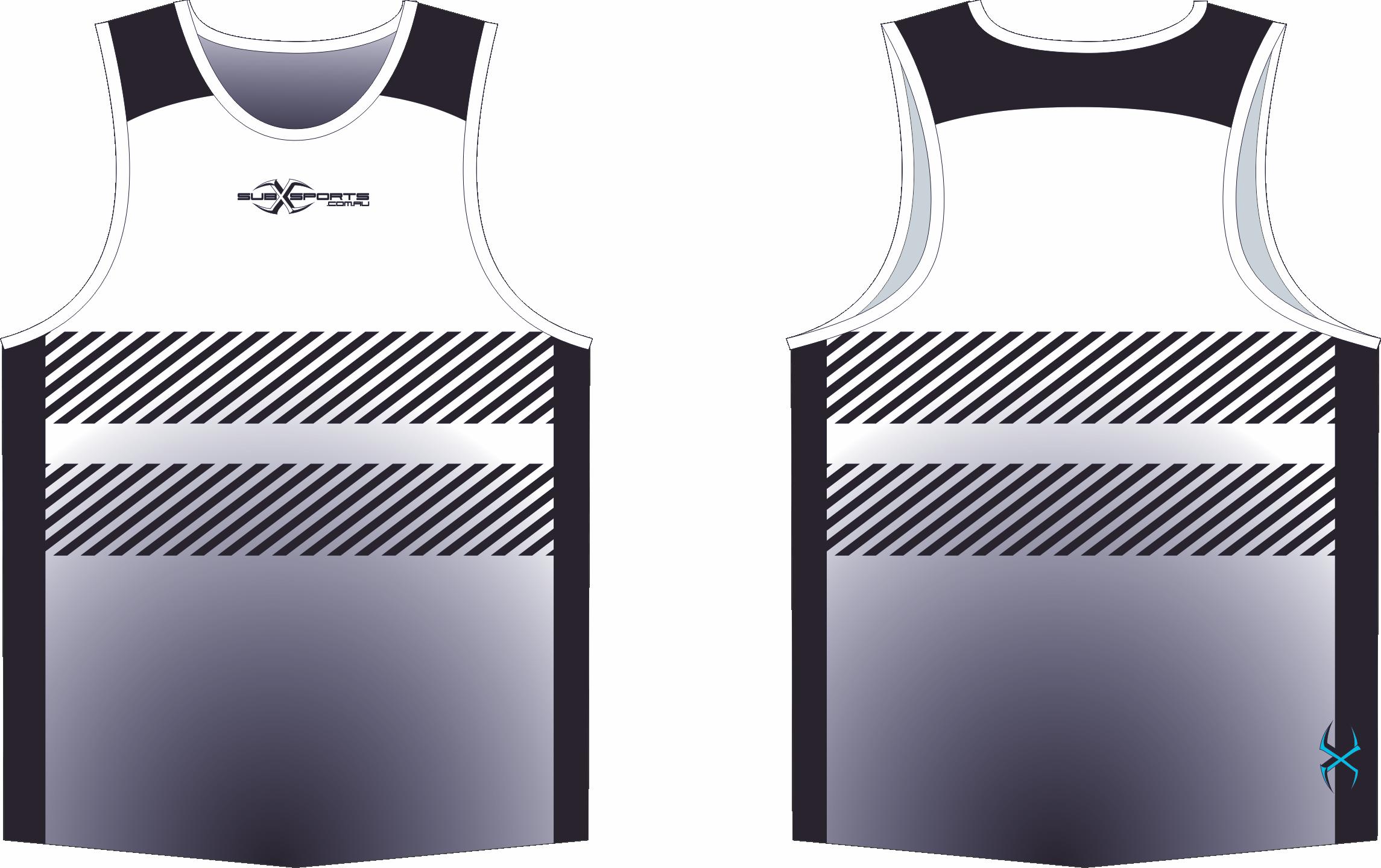 X305XS Singlet White Black.png