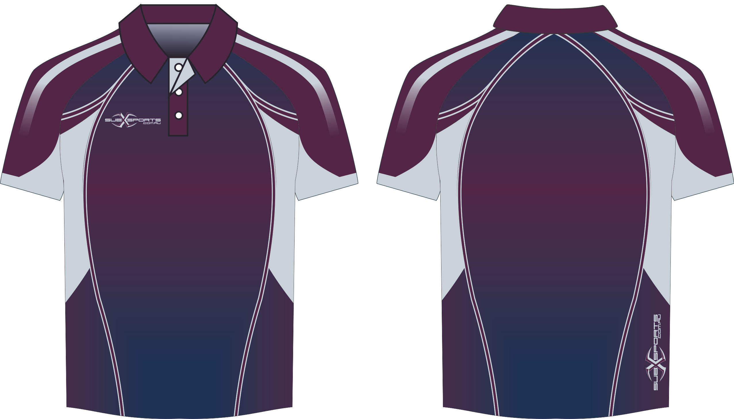 X303XP Polo Maroon Navy Silver.png