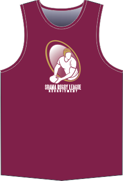 Srama Rugby League Recruitment Maroon Singlet