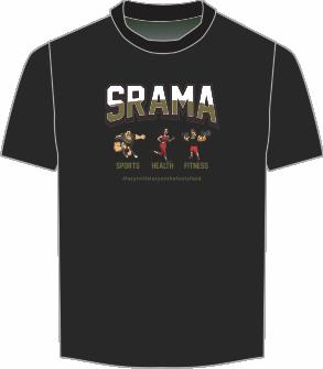 Srama Sport Health Fitness Black T-Shirt