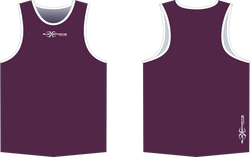 S206XS Singlet Maroon White.png
