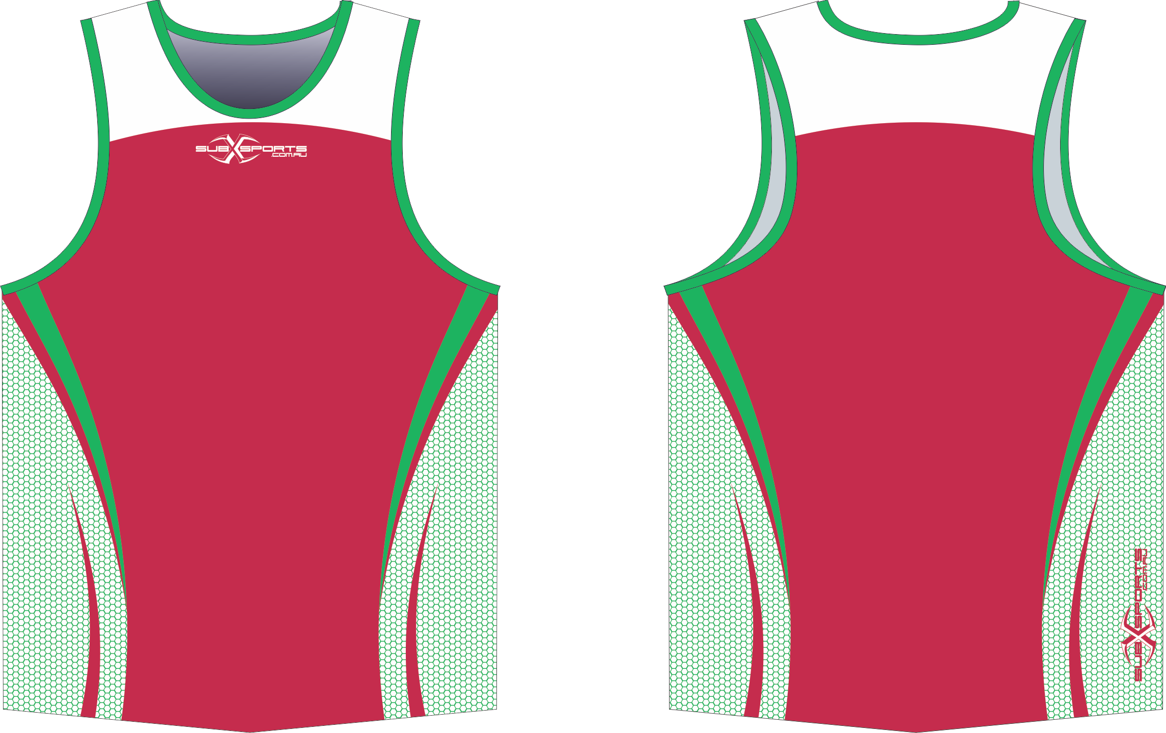 X302XS Singlet White Green Red.png