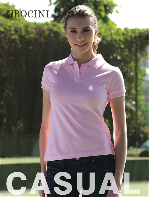 Pique Knit Fitted Polo BCP0756