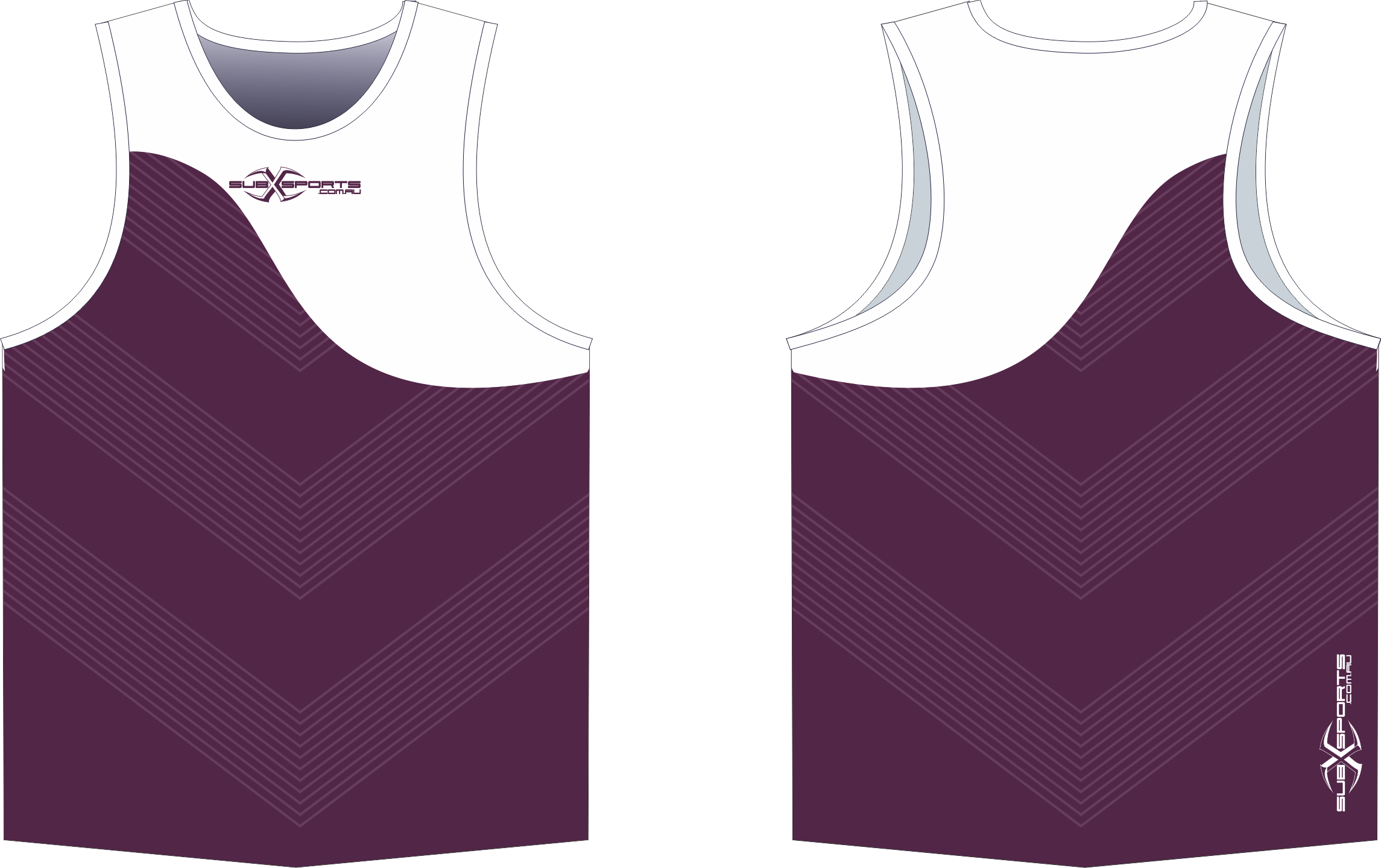 X304XS Singlet Maroon White.png