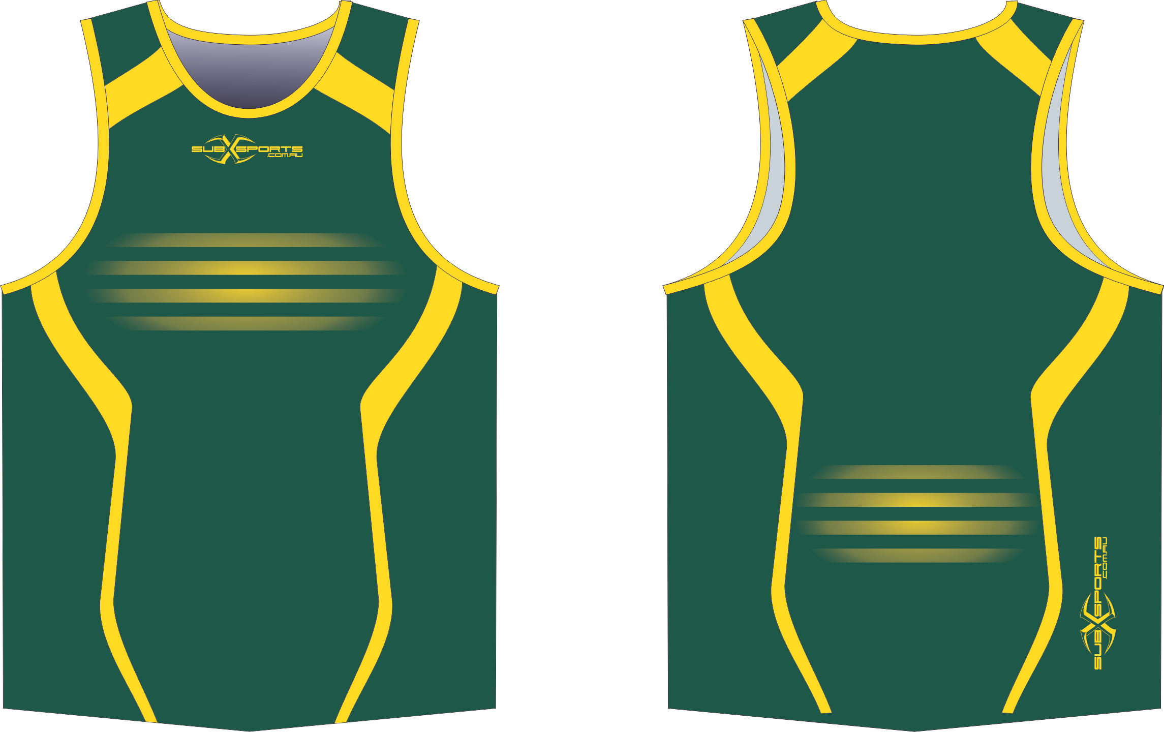 S201XS green gold sublimated singlet.png