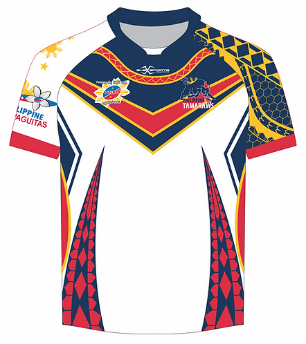Philippines Rugby League Tamaraws White Playing Jersey