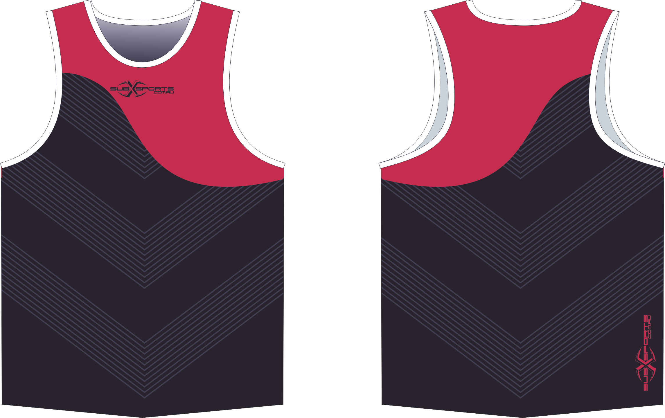 X304XS Singlet Black Red.png
