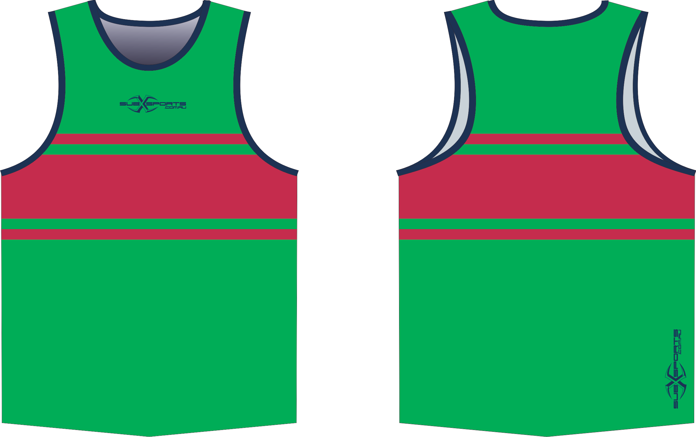 S203XS Singlet Green Navy Red.png