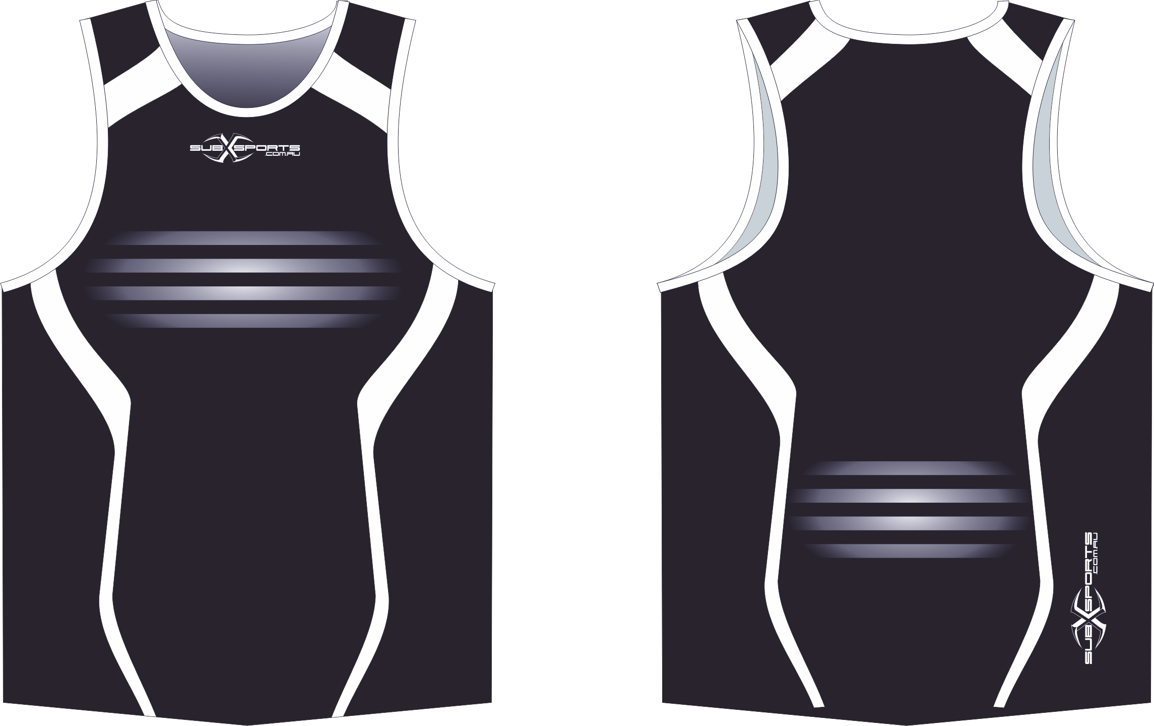 S201XS black white footy Singlet.png