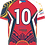 Thumbnail: Philippines Rugby League Tamaraws Red Playing Jersey