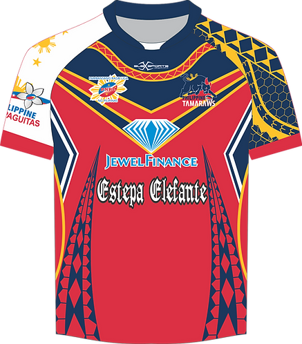 Philippines Rugby League Tamaraws Red Playing Jersey