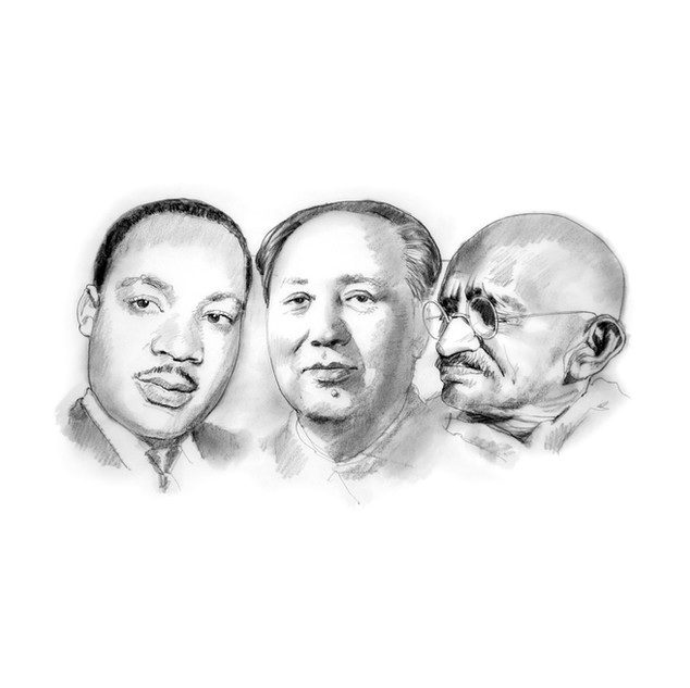 Martin Luther King Jr., Mao, Ghandi