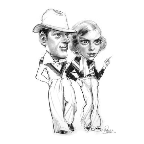 Robert Redford and Mia Farrow