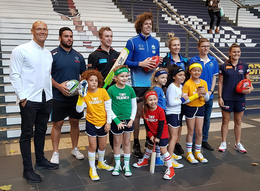 SPORTS BAND TOGETHER TO GET AUSTRALIANS MOVING