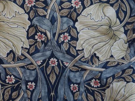 Se det super dejlige stof fra William Morris som jeg forhandler.