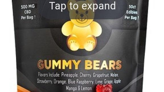 CBD 500mg Gummy Bears 50ct bag