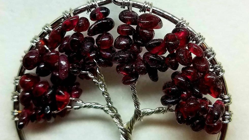 Rhodolite Garnet Polished Genuine Gemstone Pendant