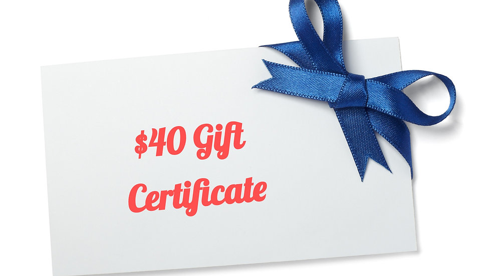 $40 Paper Gift Certificate