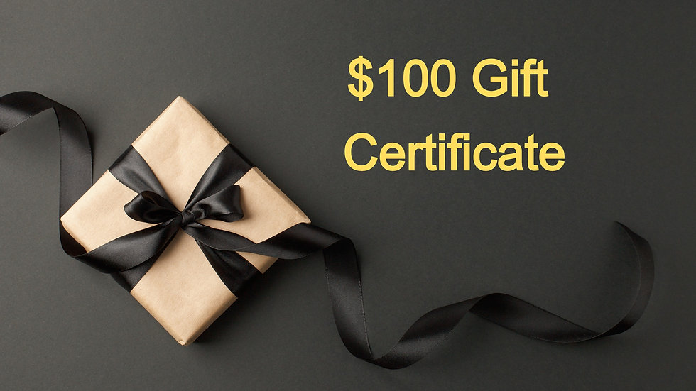 $100 Paper Gift Certificate