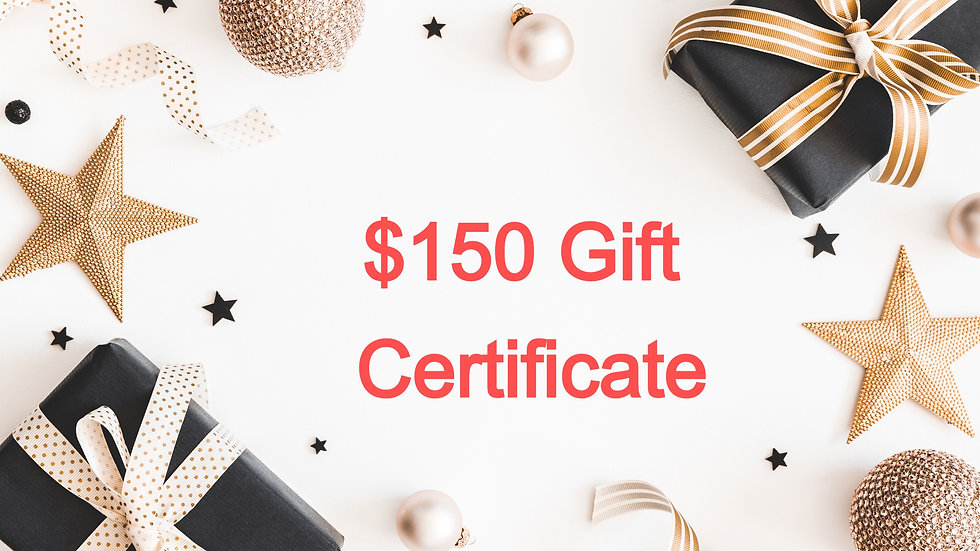 $150 Paper Gift Certificate