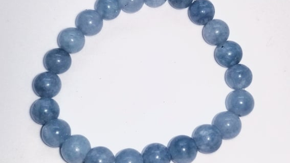 AQUAMARINE Bracelet 8mm beads