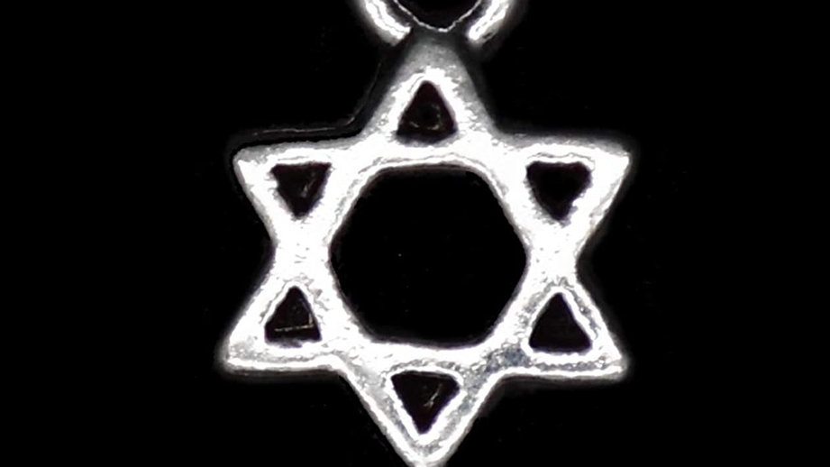 Silver star of David protection charm