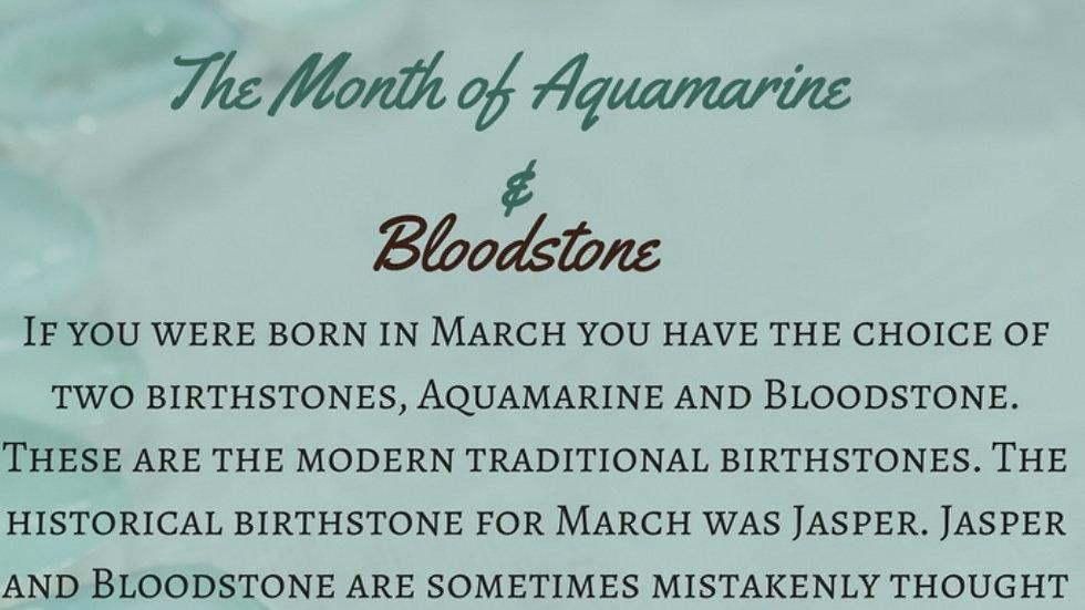 Aquamarine/Bloodstone March Gem Elixir .5oz Blend Bottle