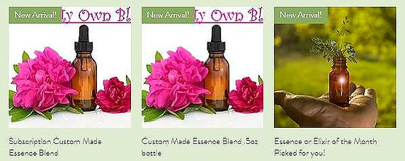 Custom Flower Essences and Subscriptions Box of the Month flowers of the Month