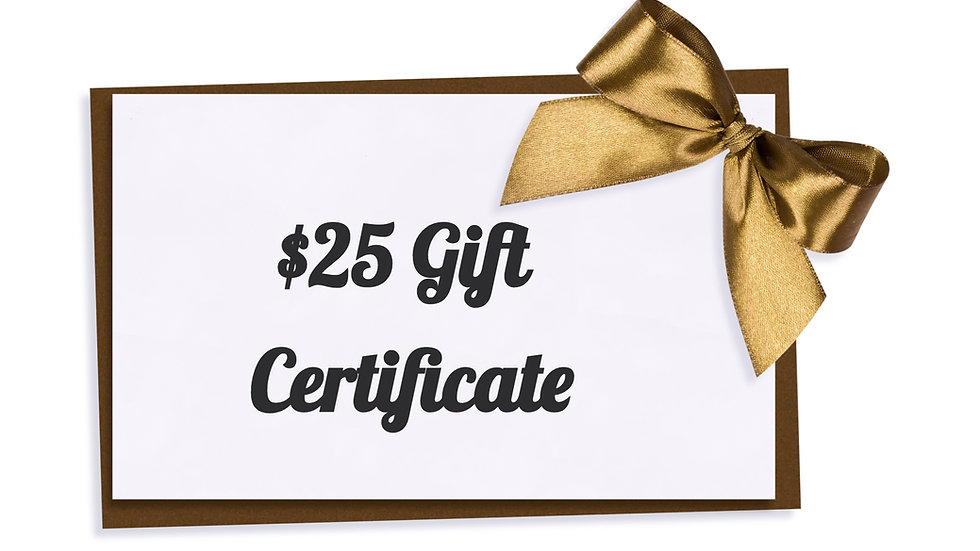 $25 Paper Gift Certificate