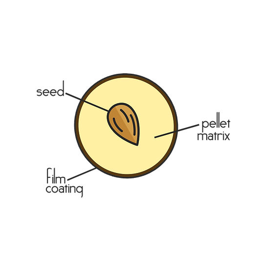 Seed Pellet Cross Section