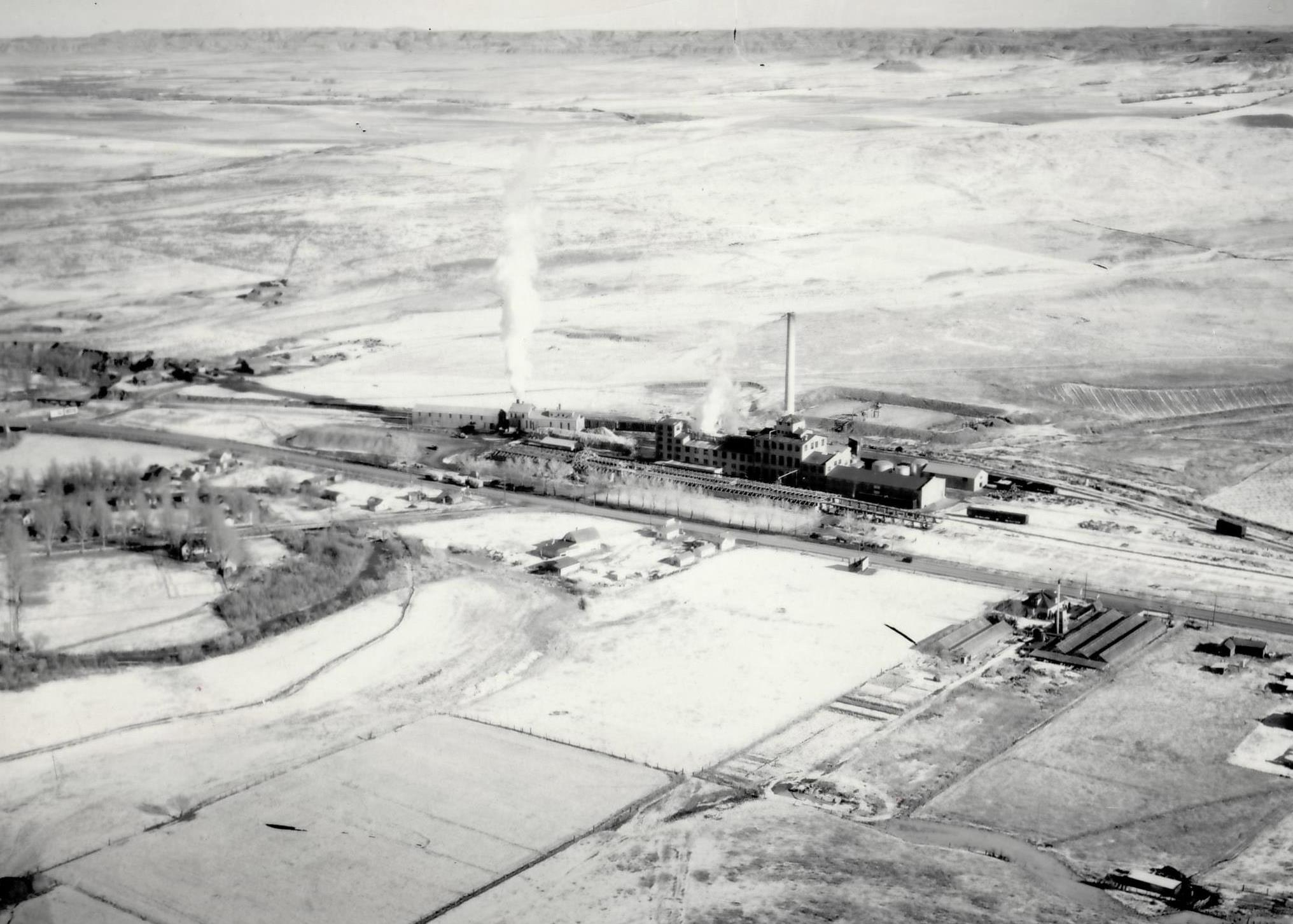 Factory Aerial View