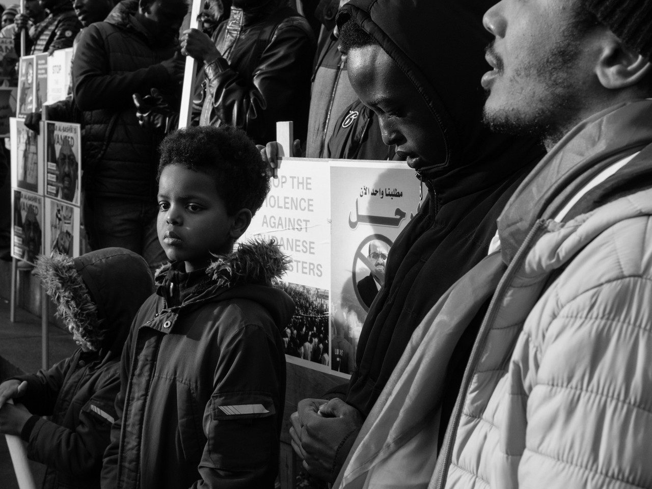 Child on the frontline at #sudan-revolts protest Newcastle Upon Tyne Street Photography