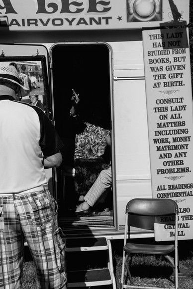 Fortune teller at The Hoppings, Newcastle Upon Tyne, Jordan Murray Street Photography.