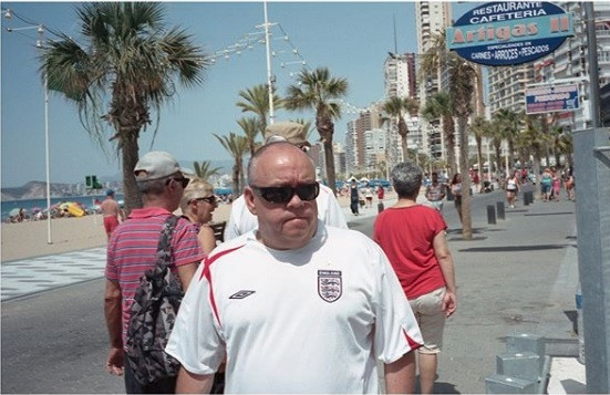 Dreaming of football coming home, Benidorm, Connor Guy, 2018