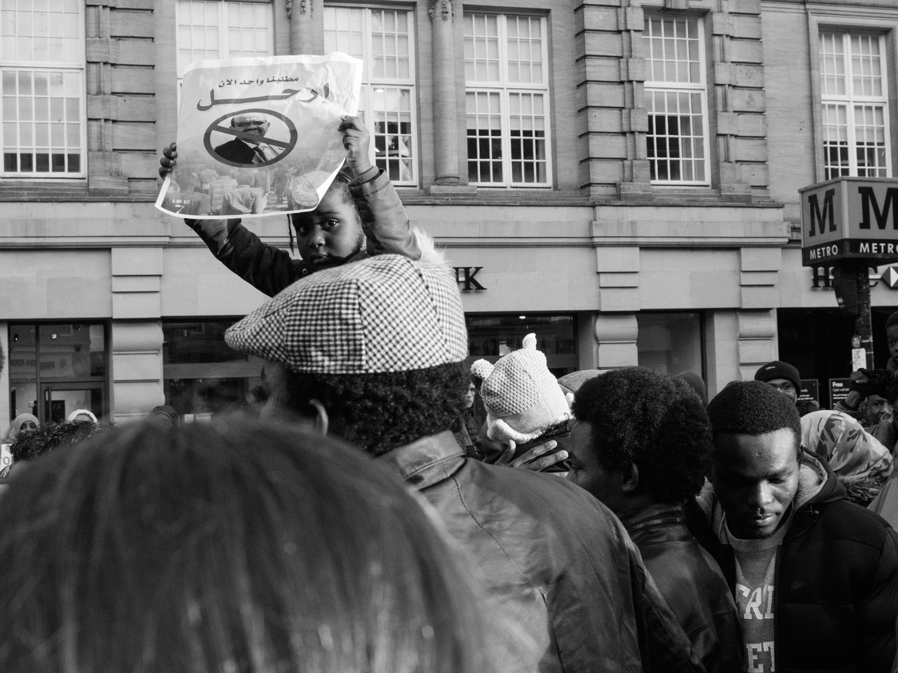Child protests at #sudan-revolts Newcastle Upon Tyne Street Photography