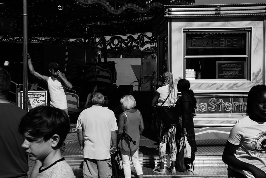 Dodgems at The Hoppings, Newcastle Upon Tyne, Jordan Murray Street Photography.