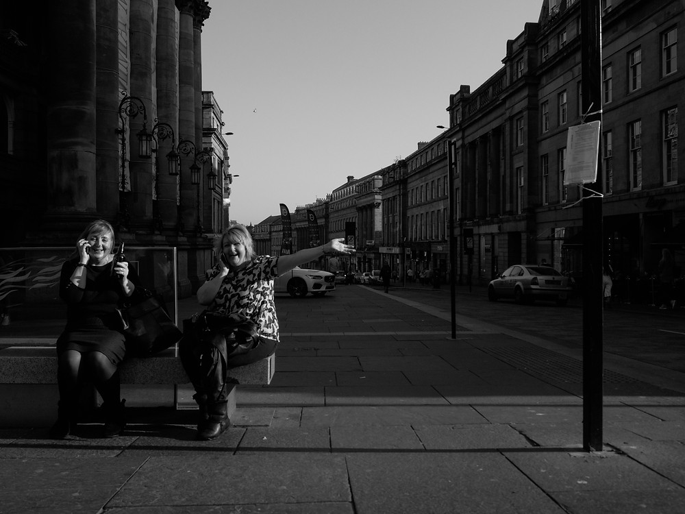 Ladies having a drink in Newcastle Upon Tyne UK
