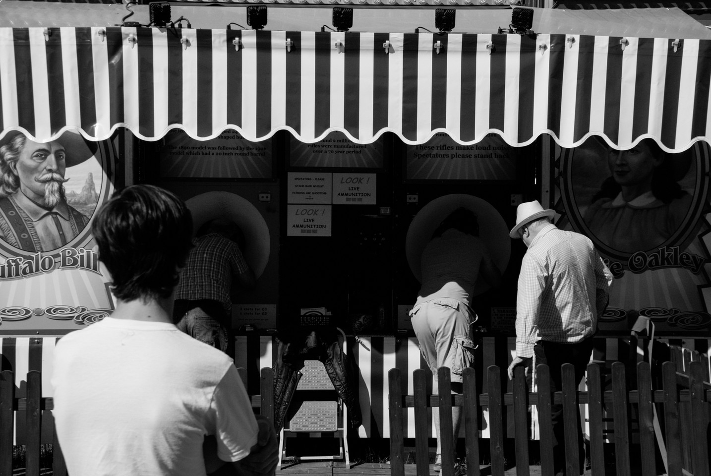 Rifle shooting at The Hoppings, Newcastle Upon Tyne, Jordan Murray Street Photography.