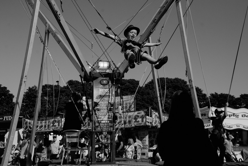 Trampoline at The Hoppings, Newcastle Upon Tyne, Jordan Murray Street Photography.
