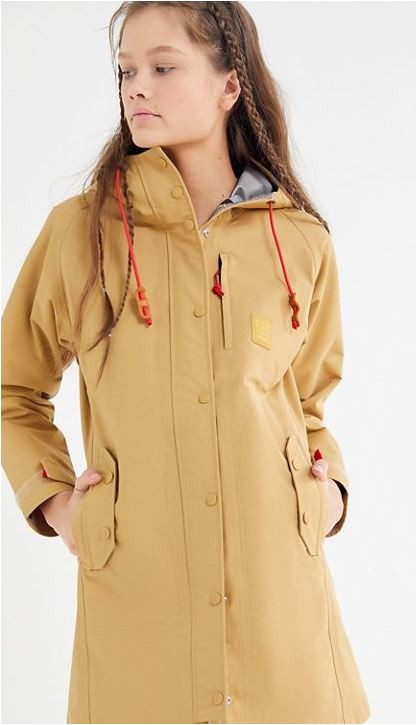 Topo Designs Longline Zip-Front Raincoat available at UO for $149.99