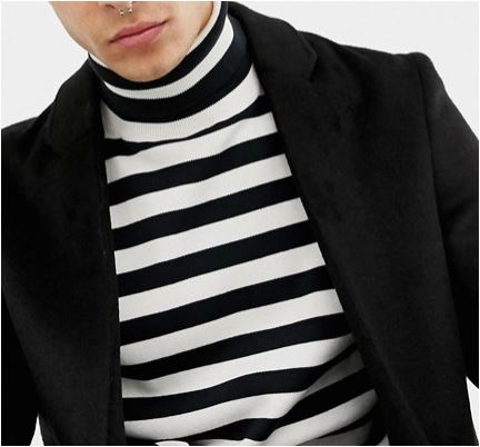 asos - striped turtle neck