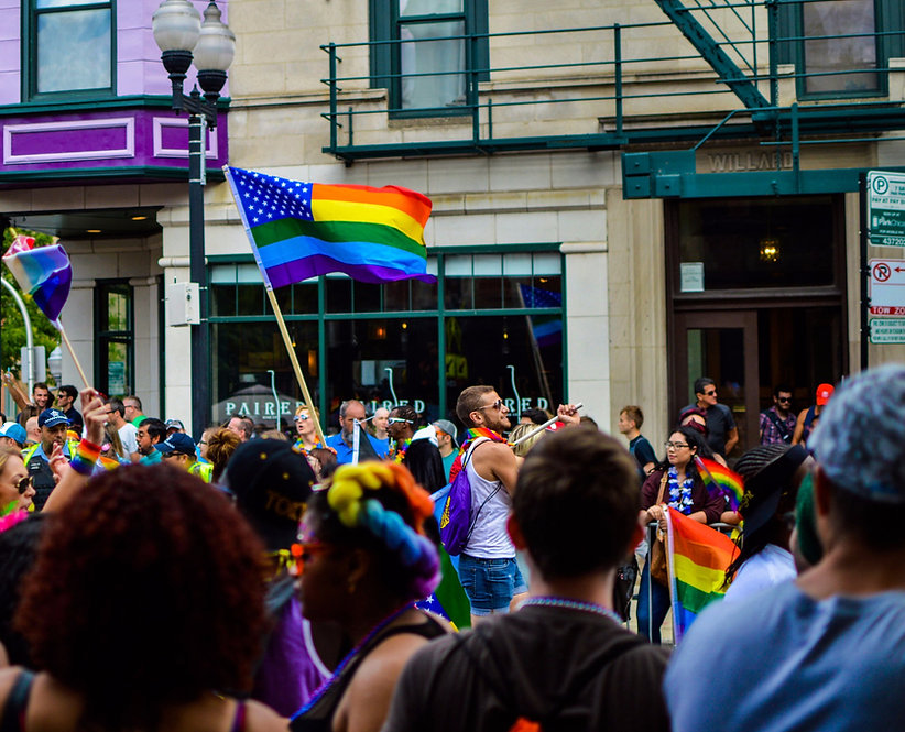 Pride parade header photo