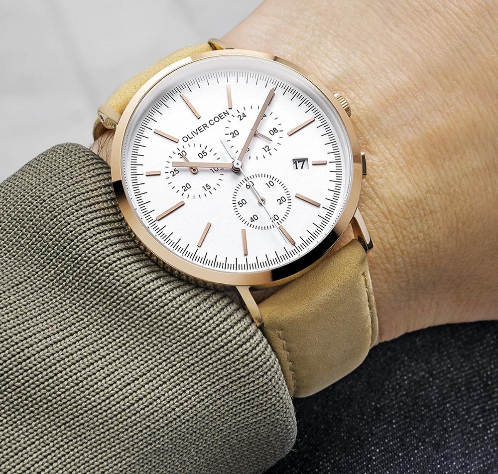 Gender neutral leather watch