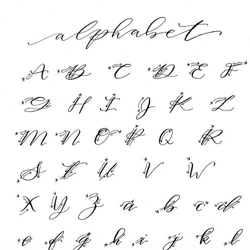 Calligraphy Alphabet - FREE