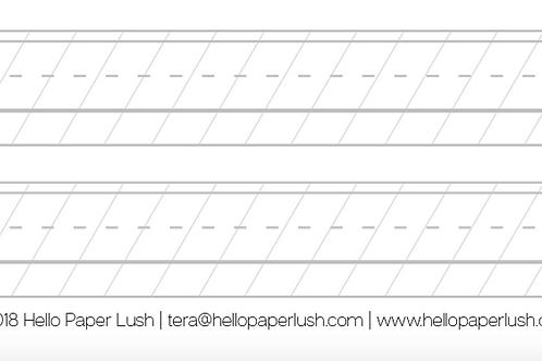 Blank Calligraphy Worksheet - FREE