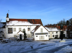 The Barsham Arms In Snow