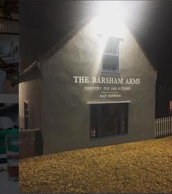 The Barsham Arms At Night