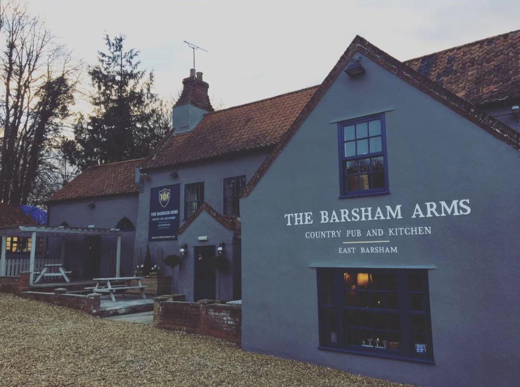 The Barsham Arms Dusk
