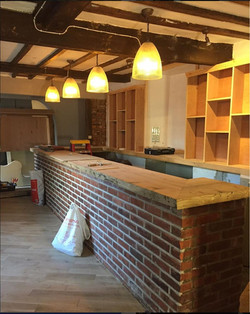 The Barsham Arms Bar Being Built