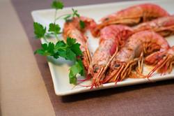 piatto pesce gamberoni